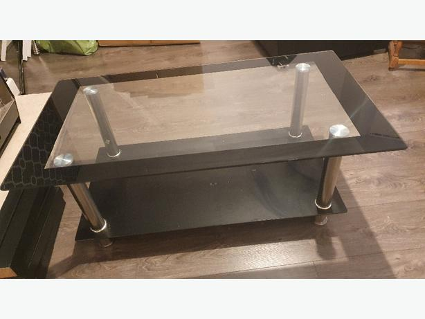 Big black glass table for sale