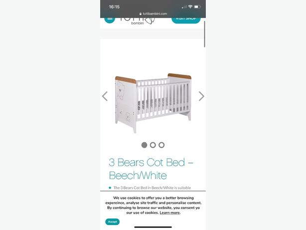 Cotbed and Changing Table