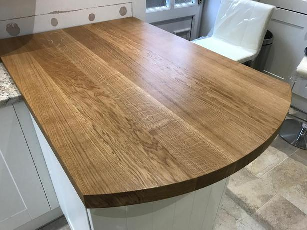 Oak Worktop Breakfast Bar