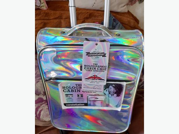 Brand new holographic 4 wheeled cabin suitcase