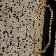 9ct gold plated silver curb chain