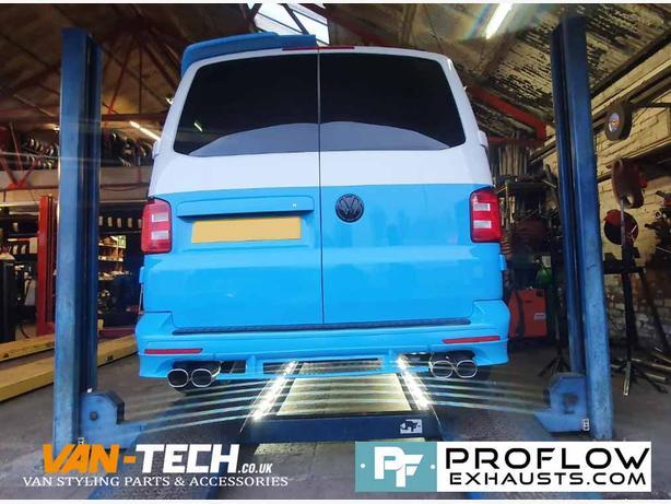 Custom Built Stainless Steel Proflow Exhaust for VW Transporter T6