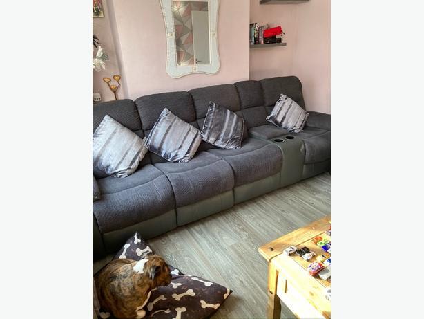 grey fabric dfs sofa