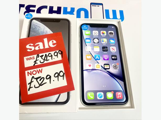 IPhone XR 64GB unlocked to all networks White Boxed 329.99