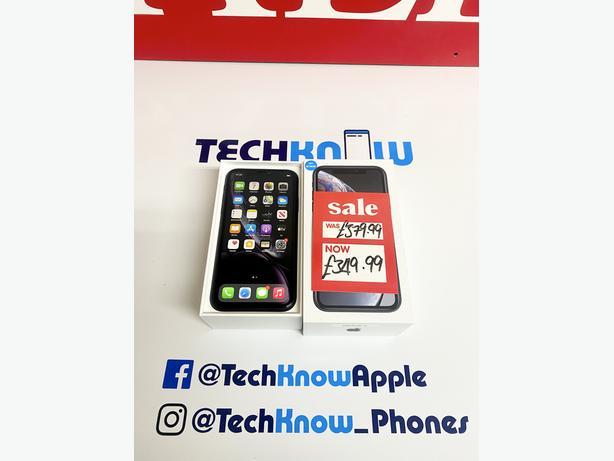 Apple iPhone XR 128GB unlocked Black boxed + Warranty £349.99