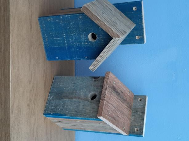 Repurposed Timber Bird Boxes