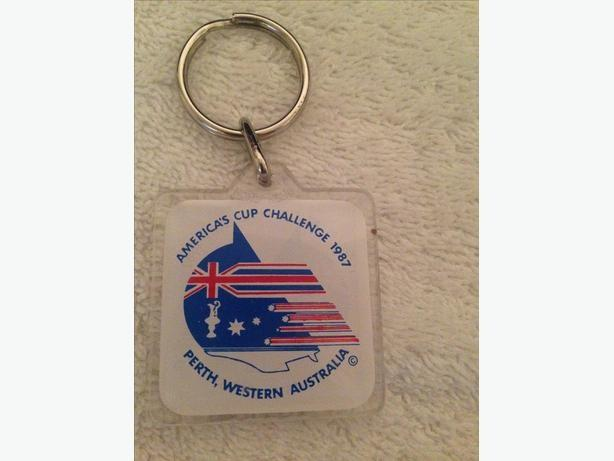 America's Cup Challenge 1987 keyring