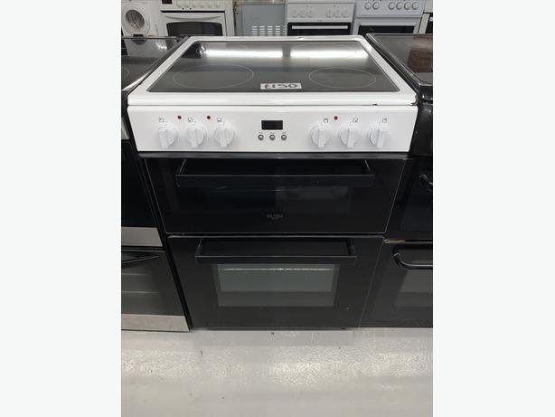 PLANET APPLIANCE - 60CM WHITE BUSH ELECTRIC COOKER CLEAN