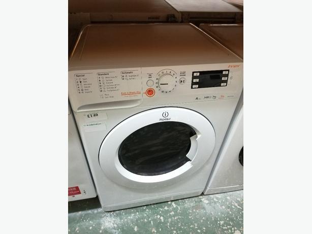 Indesit 7+5 kg washer dryer with warranty at Recyk Appliances