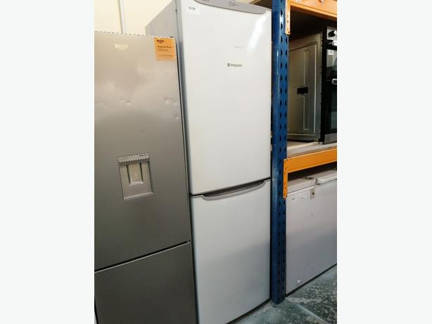 Hotpoint fridge freezer white 3 months warranty at Recyk Appliances