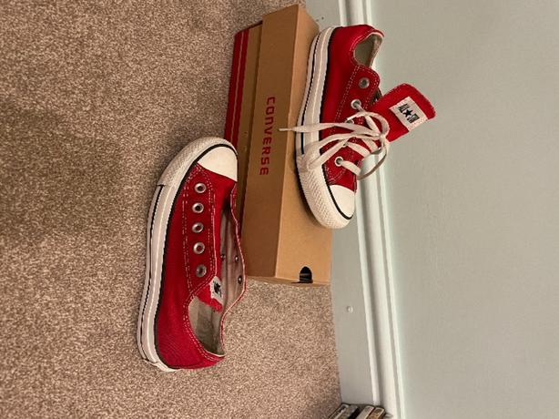 Red Converse Trainers Size 3UK.