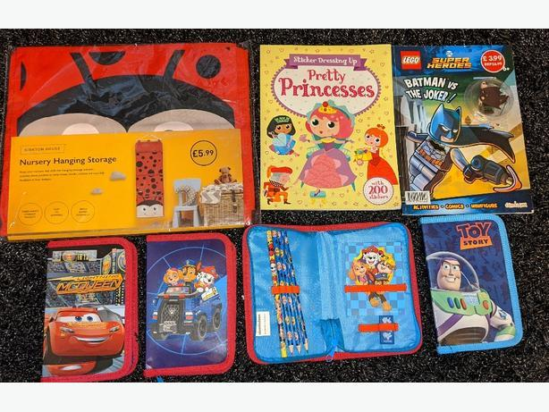 NEW £3 each storage, sticker book, pencil cases