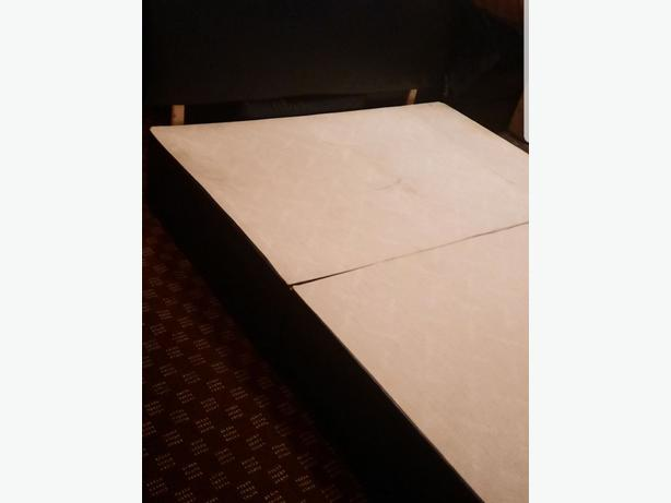 Lovely Kingsize Leather Divan Bed & Headboard Good Condition Can Deliver for £5