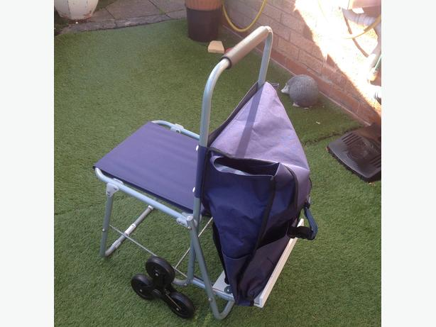 New 3 wheel shopping seat trolley