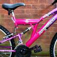 "Ammaco Serena mountain bike, dual suspension, 18 speed,26""wheels"