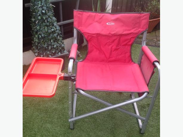 Fishing chair with octoplus double tray