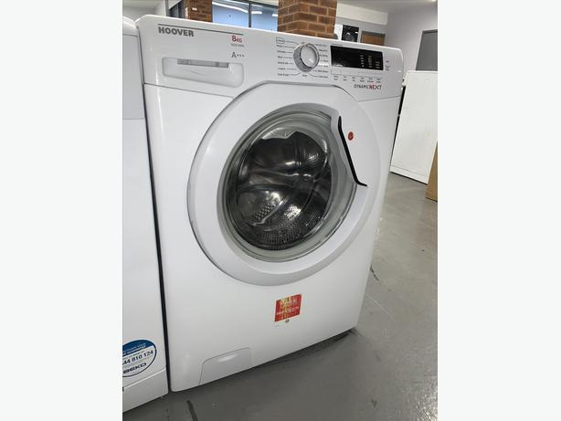PLANET APPLIANCE - 8KG HOOVER WASHER WASHING MACHINE IN WHITE