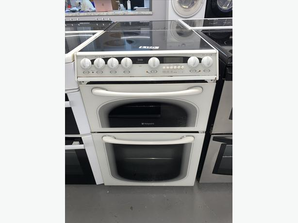 PLANET APPLIANCE - 60CM HOTPOINT CREDA ELECTRIC COOKER - WHITE