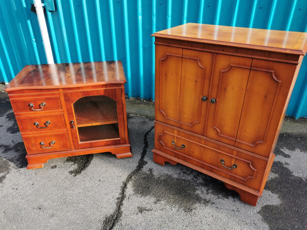 Yew Wood Cabinets