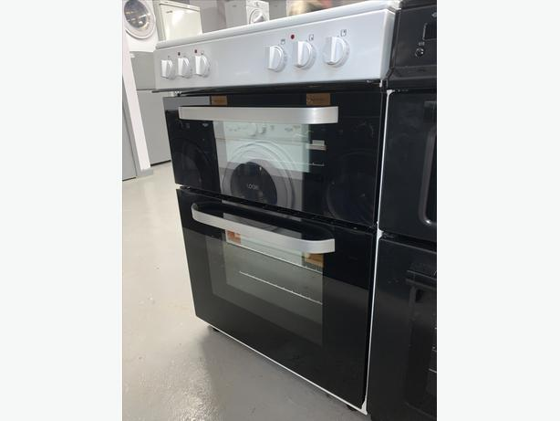 PLANET APPLIANCE - 60CM LOGIK ELECTRIC COOKER IN WHITE