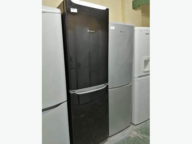 Hotpoint tall fridge freezer black 4 drawers at Recyk Appliances