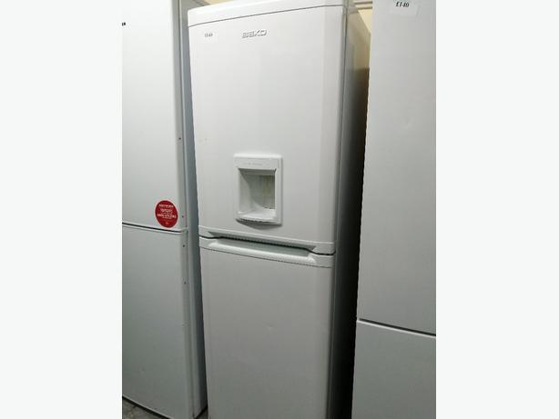 Beko tall fridge freezer with water dispenser at Recyk Appliances