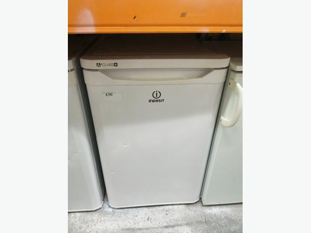 Indesit undercounter fridge with warranty at Recyk Appliances