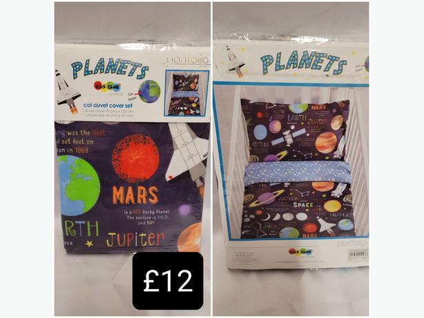 Planets Cot Duvet Cover Set
