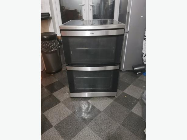 AEG stainless Steel double oven and electric cooker