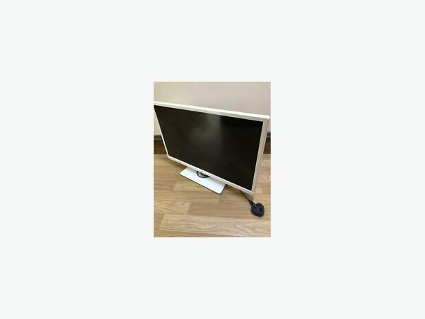 white thin 24 inch hd led tv+built in dvd player+freeview+remote+DELIVERY