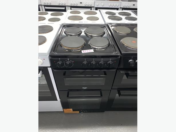 PLANET APPLIANCE - 50CM BUSH BLACK ELECTRIC COOKER