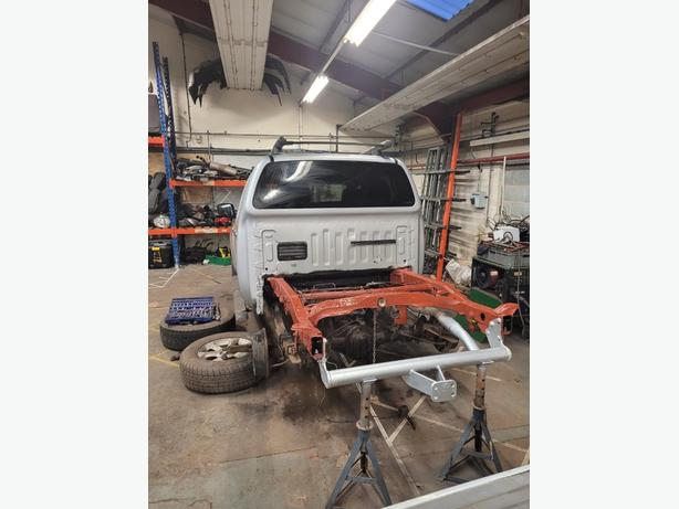 Navara D40 welded chassis repairs