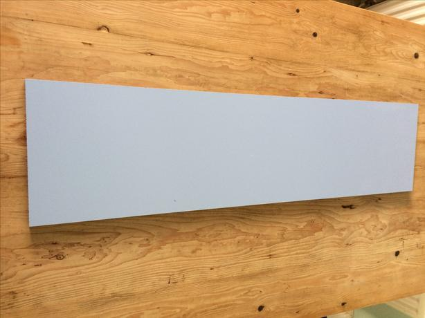 light blue panel ideal for table bench top shelf plank