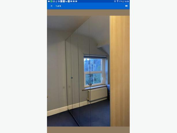 Ikea beech/mirror wardrobes  X2  OFFERS