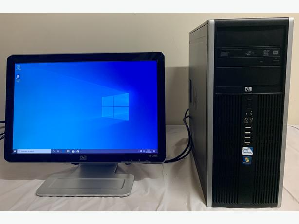 Business HP Elite PC Desktop Computer & HP 20 LCD Widescreen