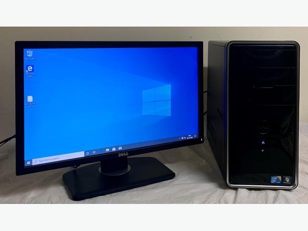 Dell Inspiron Quad Core Computer Desktop Pc With Dell Widescreen 22 LCD