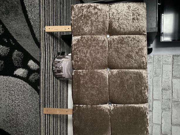 crushed velvet headboard for single bed