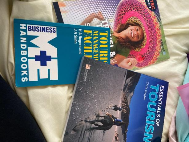 3 travel and tourism books by