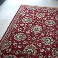 red and white rug