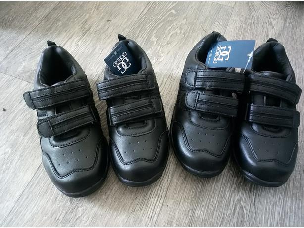 2 x Brand New C11 GiorGio Black leather shoes