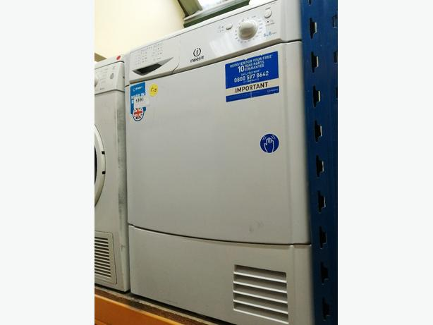 Indesit 8kg B class condenser dryer with warranty at Recyk Appliances