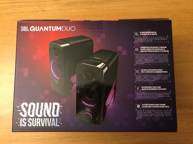 JBL Quantum Duo Gaming Speakers - USB Powered with LED Colour Lights