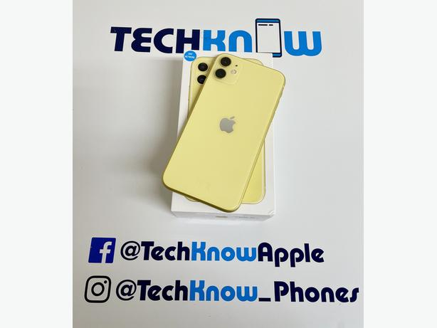 Iphone 11 64Gb unlocked to all networks Yellow Boxed - £449.99