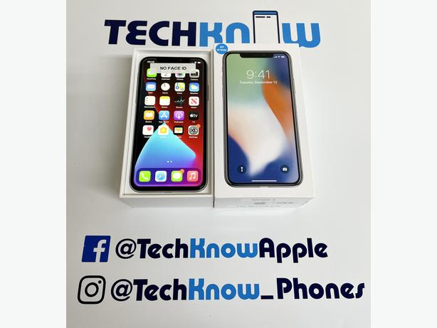 iPhone X 64GB unlocked to all networks (Silver) - £269.99