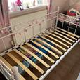 Single metal bed frame