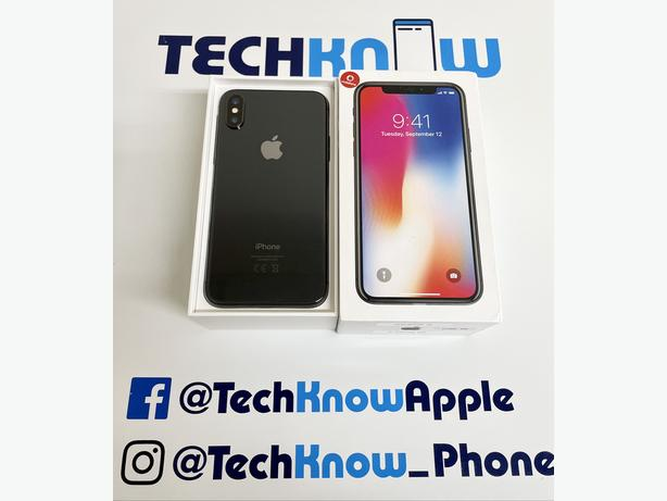 iPhone X 64GB Locked to Vodafone VOXI Grey Boxed - £299.99