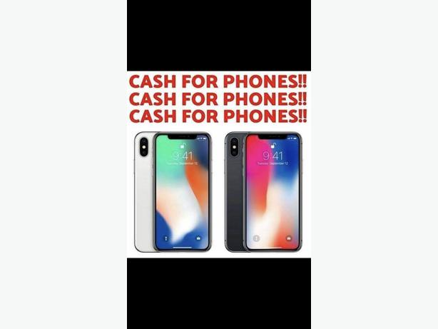 iPhones wanted cash paid latest phones only