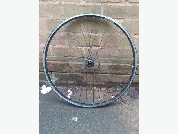 """Mountain bike rear wheel 26"""" - spares or repair"""