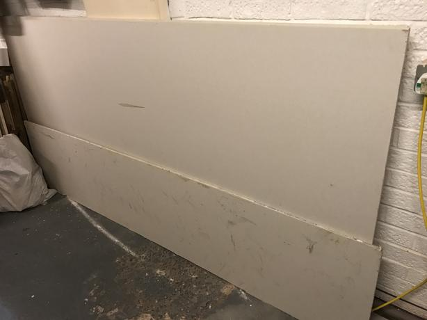 3 plasterboards wallboards 2400 x 1200 x 12.5 and 520mm wide