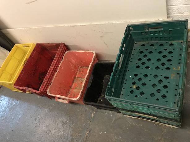 10 storage boxes containers crates collapsible stackable etc...